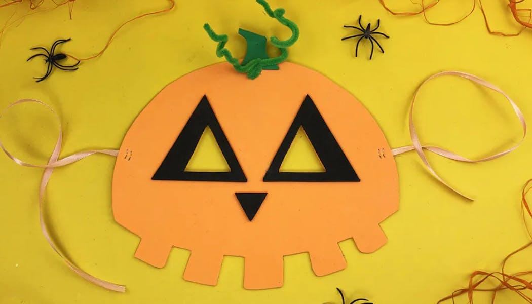 masque d'Halloween en forme de citrouille