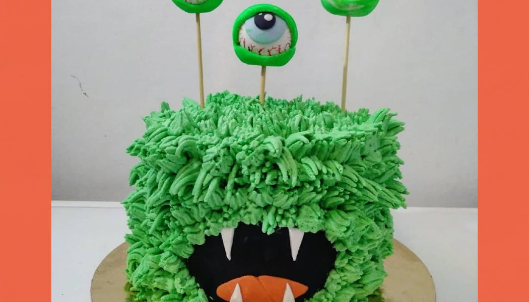 Gâteau monstre citron framboise