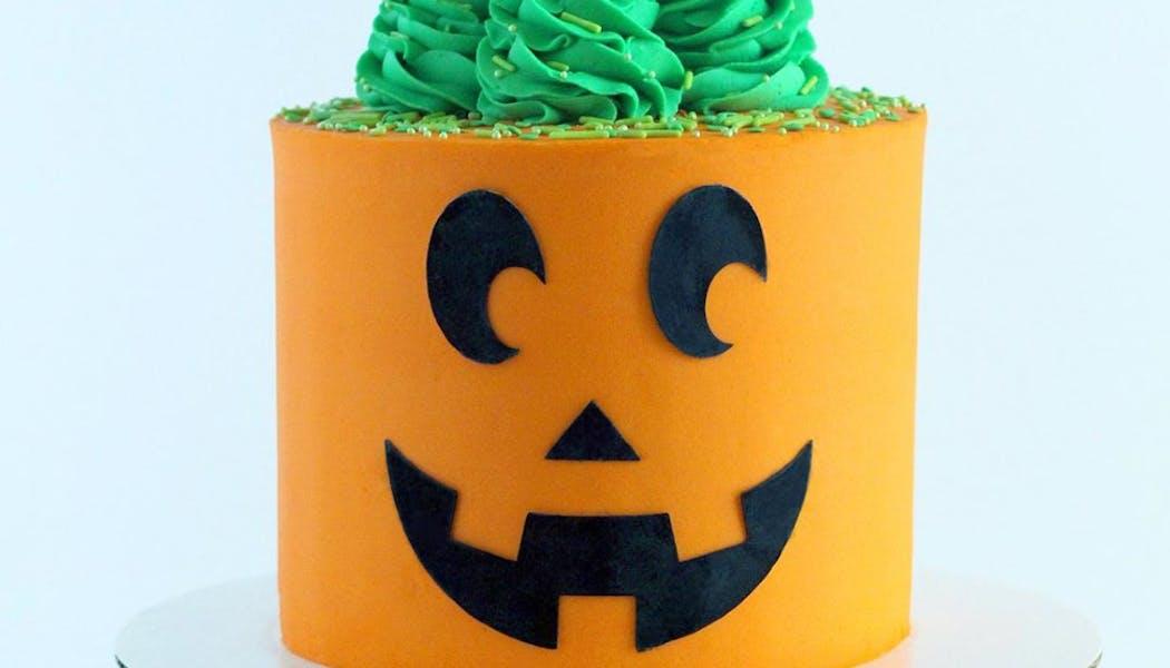 Gâteau Jack O'Lantern à la citrouille