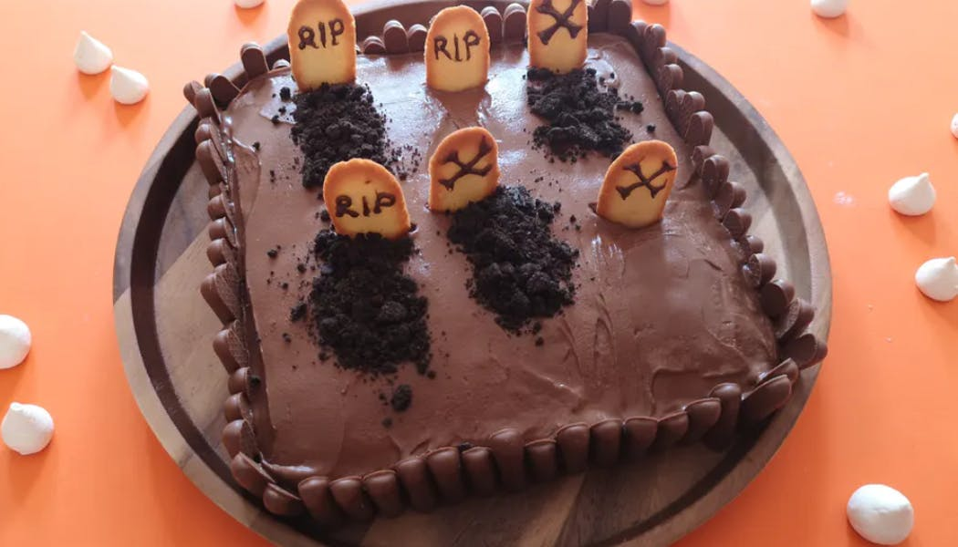 Gâteau en forme de cimetière