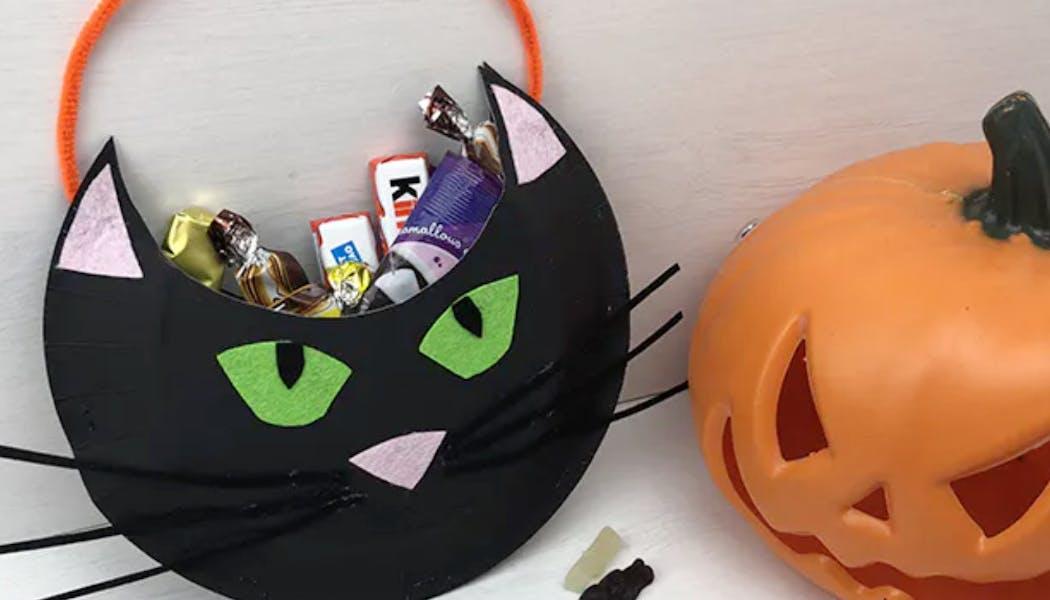 sac à bonbons « chat noir »