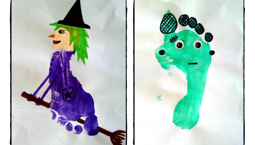 empreintes sorcière et Frankenstein