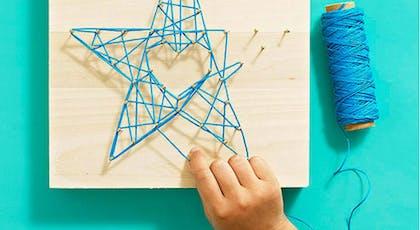 une étoile string art