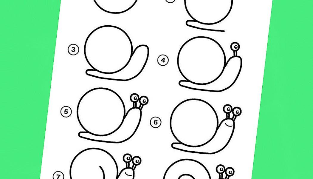Apprendre à dessiner un escargot