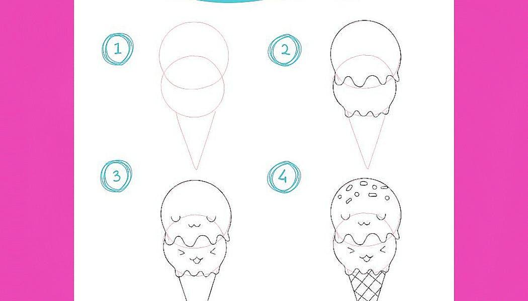 fiche pour apprendre à dessiner une glace