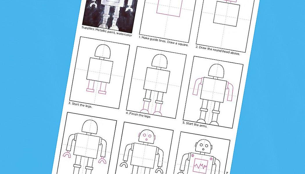 Apprendre à dessiner : un robot