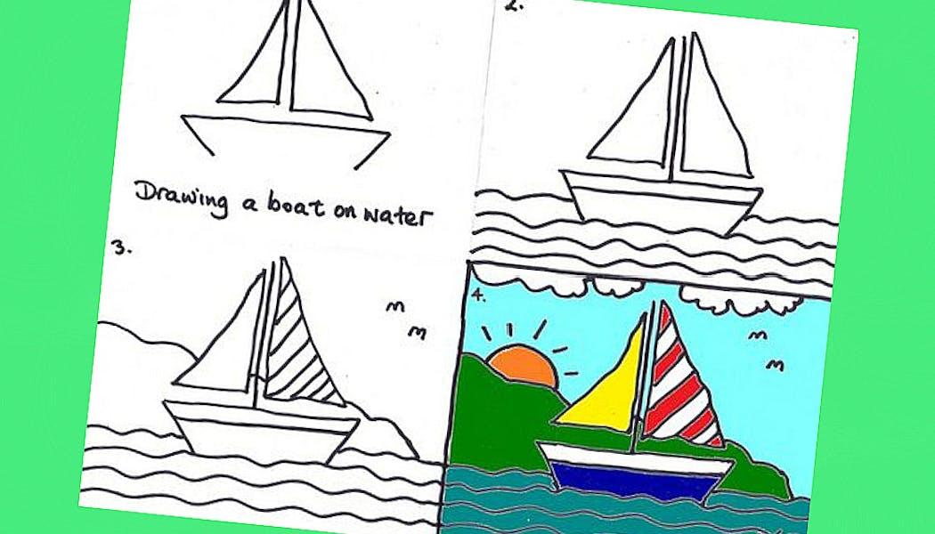 fiche pour apprendre à dessiner un bateau