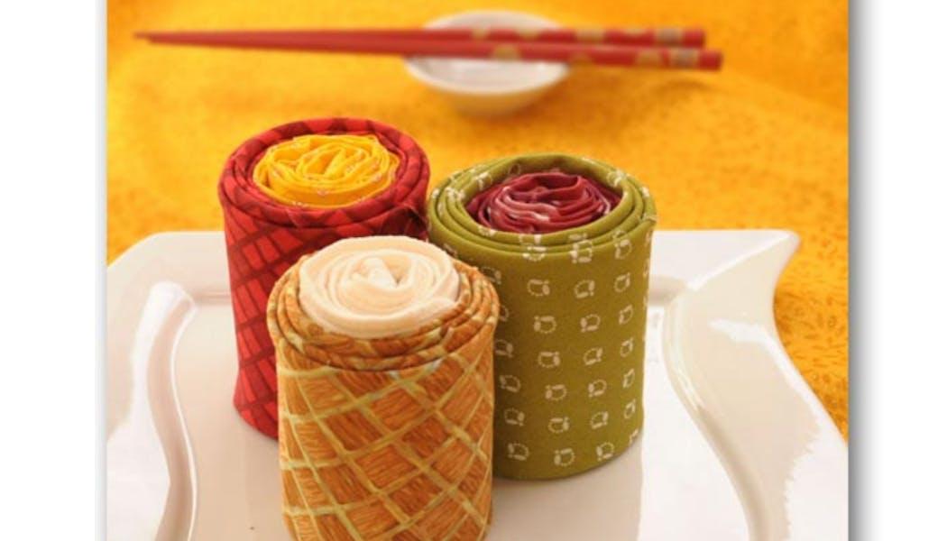 Pliage de serviette en sushi