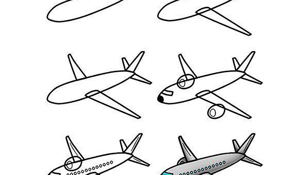 fiche pour apprendre à dessiner un avion