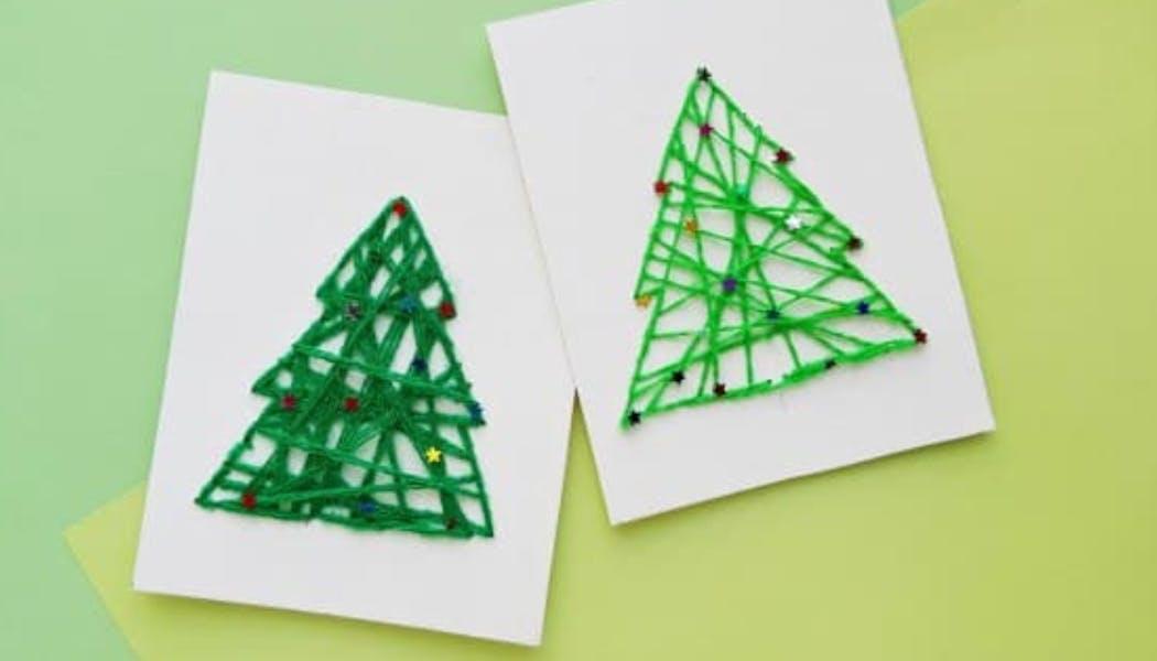un sapin de Noël en string art