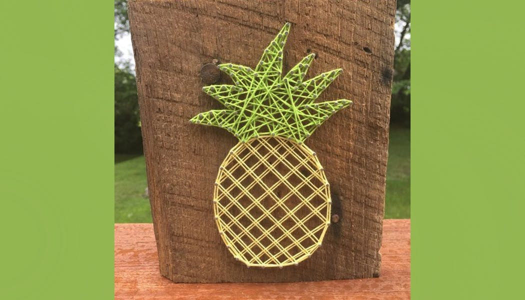 un ananas en string art