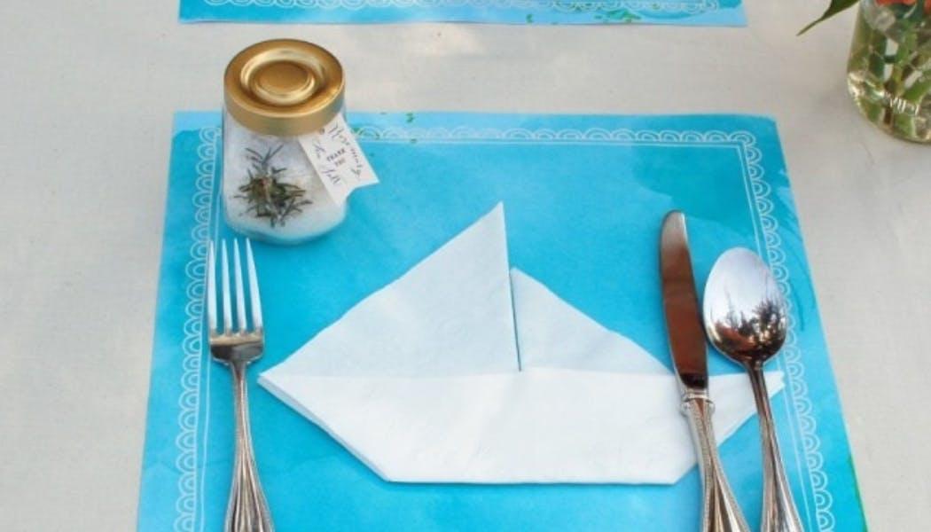 Pliage de serviette en petit navire
