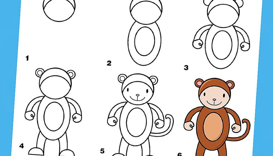Apprendre à dessiner : un singe