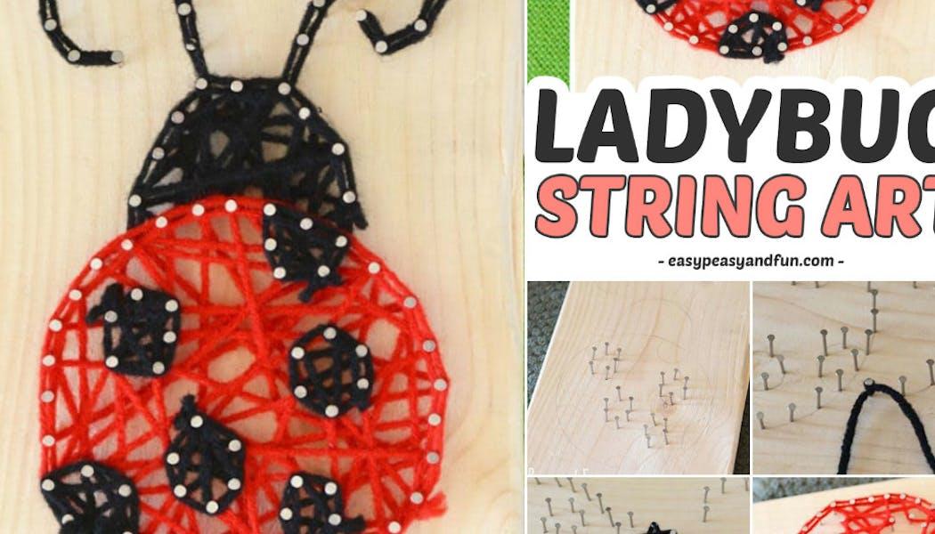 une coccinelle en string art