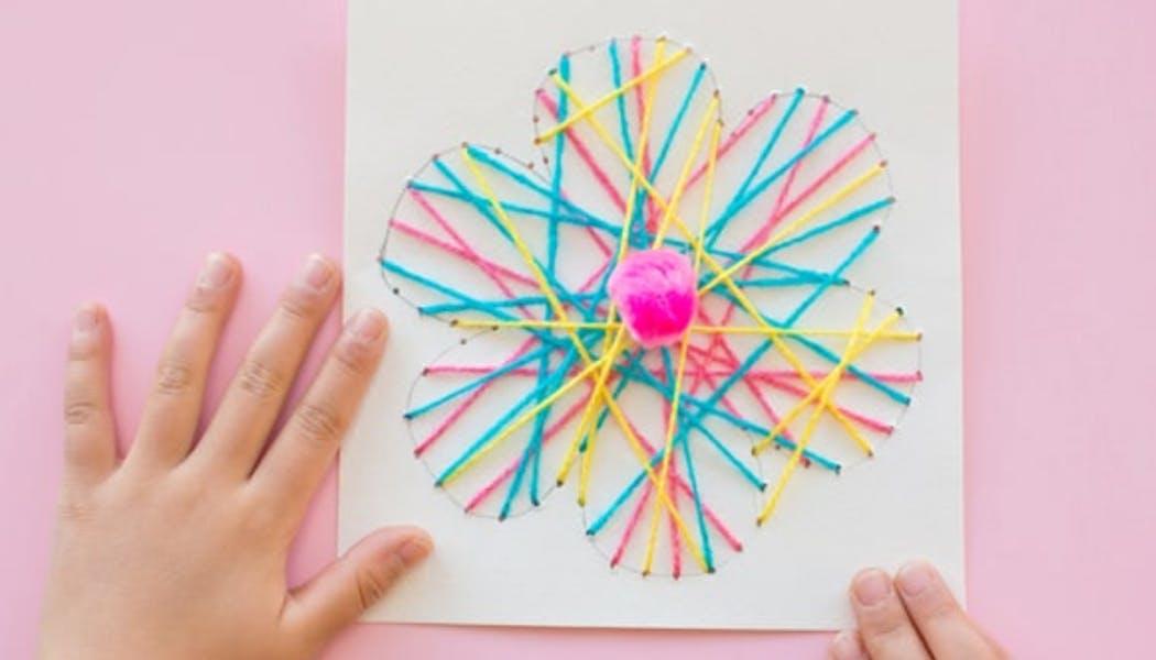 une carte de vœux fleur