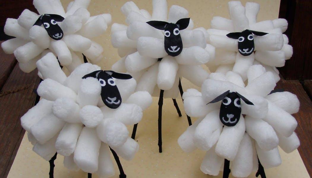 des moutons en maïs
