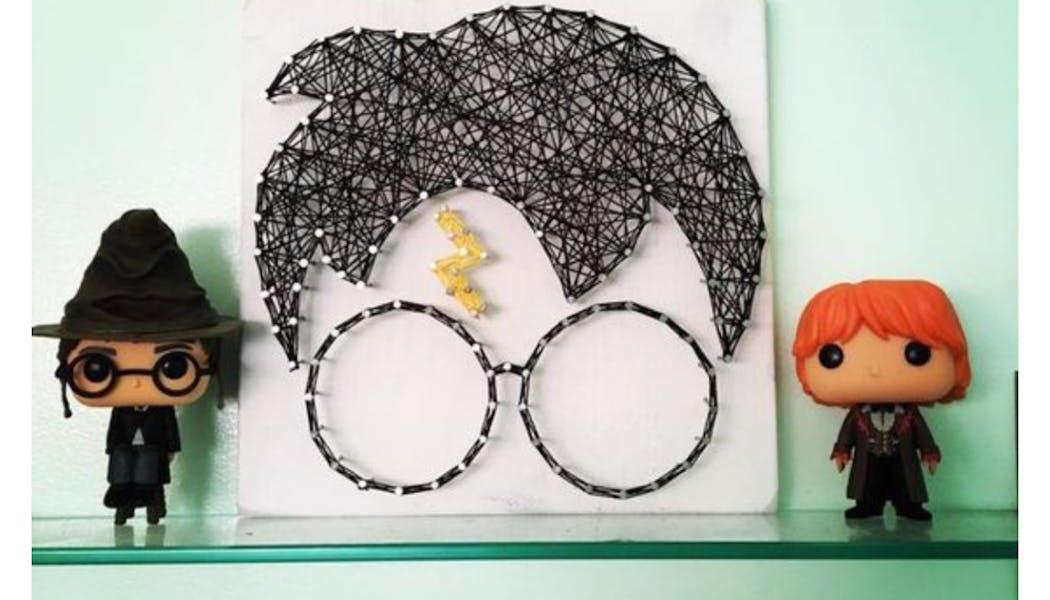 Harry Potter en string art
