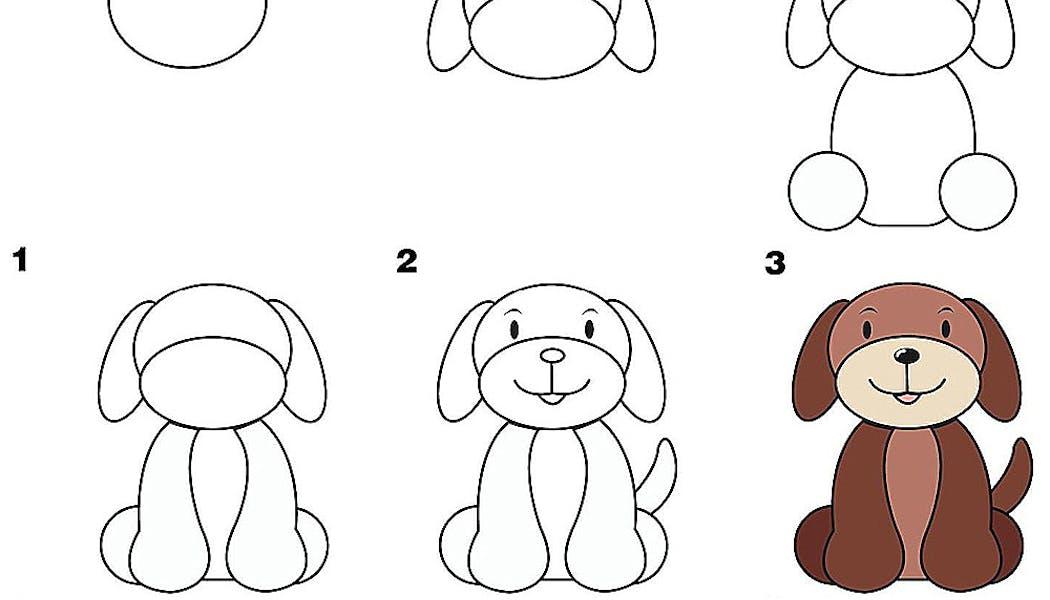 fiche pour apprendre à dessiner un chien