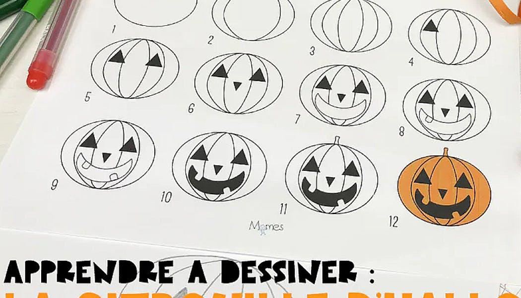 Apprendre à dessiner : une citrouille d'Halloween