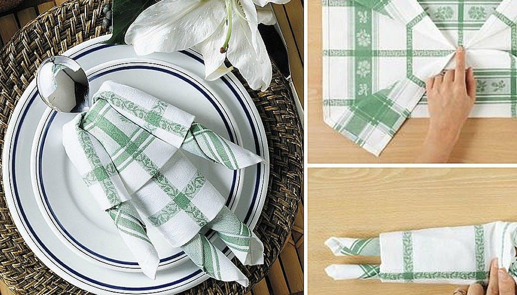 Pliage de serviette en pantin