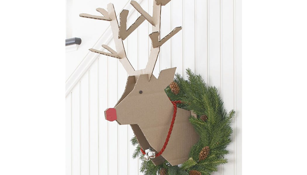 La couronne renne de Noël