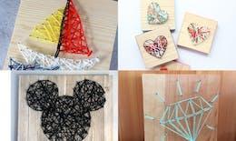 Top 30 des projets fun et faciles de string art à faire avec les mômes