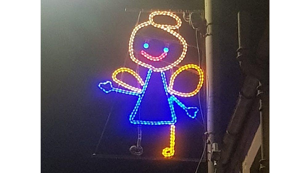 Fée Illuminations de Noël dessins d'enfants de Newburgh en Écosse