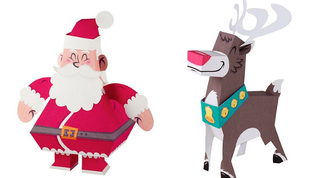 Père Noël et son renne