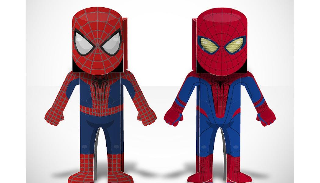 Spiderman en paper toys