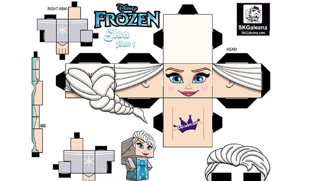 modèle à imprimer Elsa de La reine des neiges