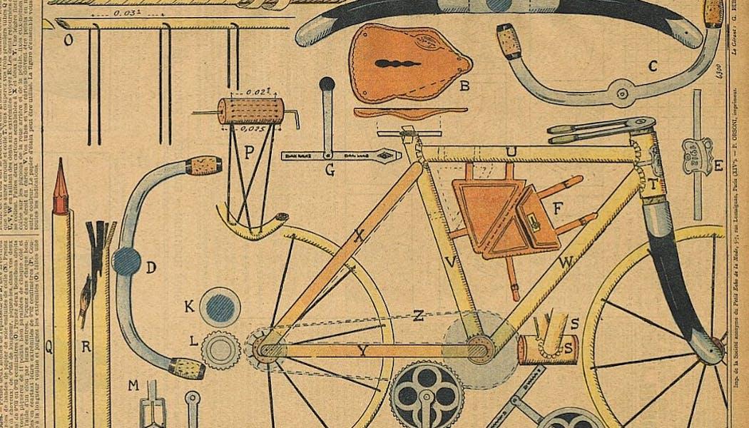modèle de bicyclette d'antan