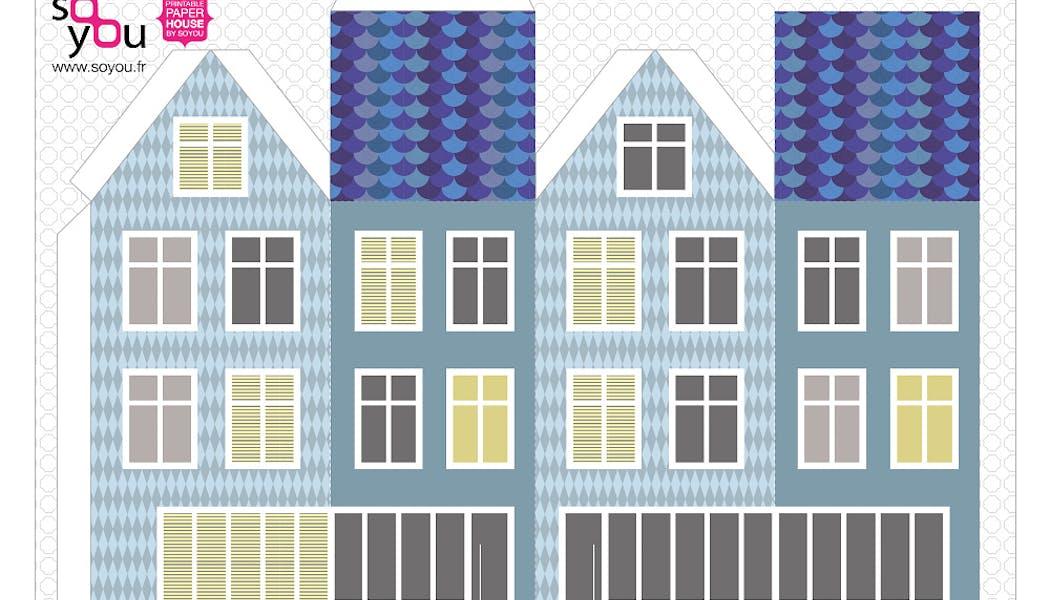 modèle de maison en papier
