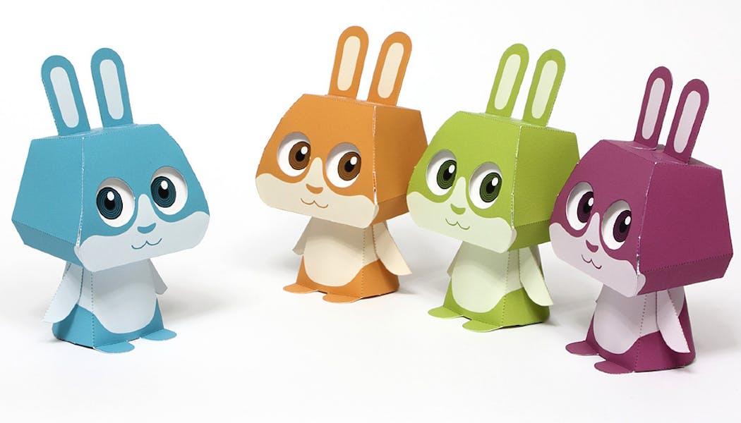 lapins en papier