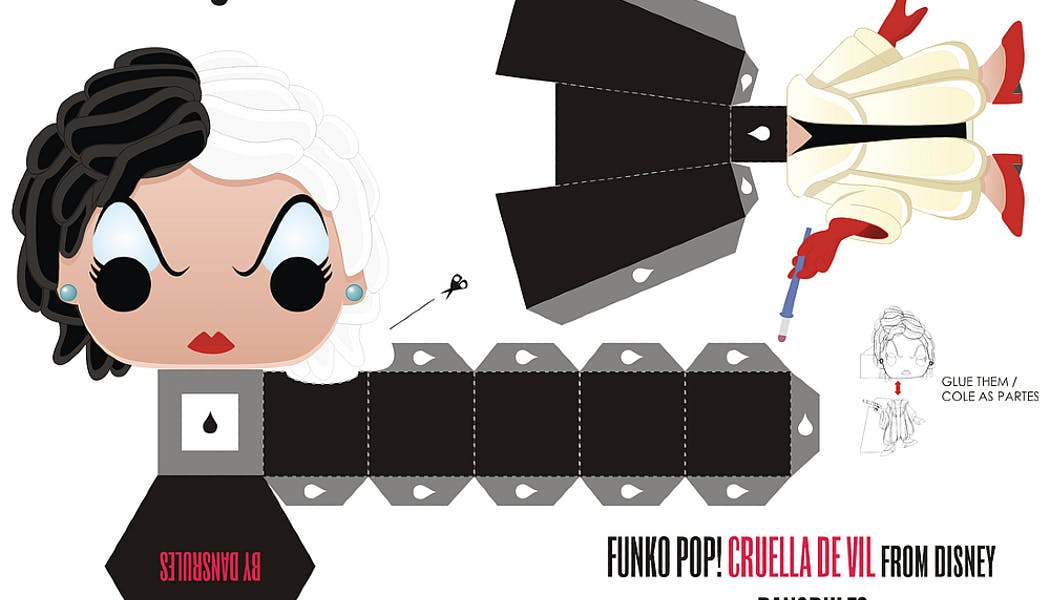 Cruella version Funky Pop en papier