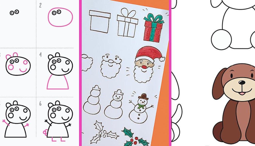 Les 30 plus beaux coloriages pour apprendre à dessiner aux enfants