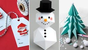 Top 15 des idées d'origamis pour Noël