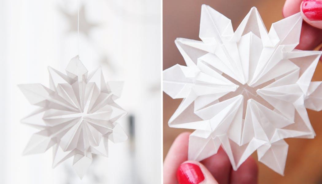 flocon de Noël en origami