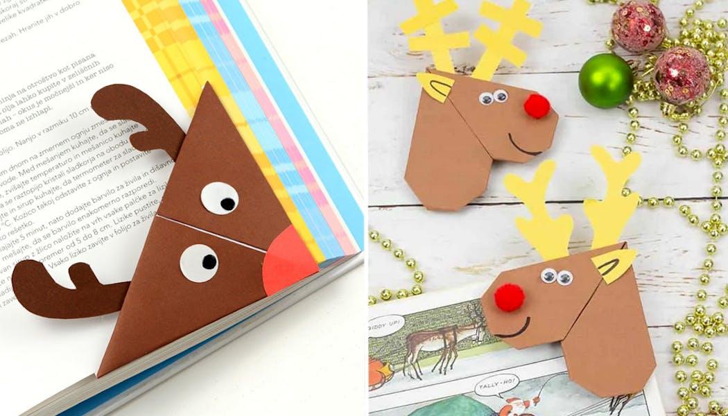 Un petit renne marque-page pour Noël