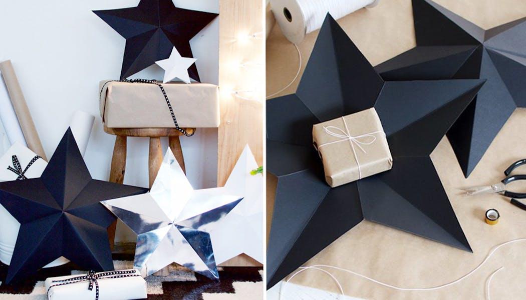 étoile papier cadeau