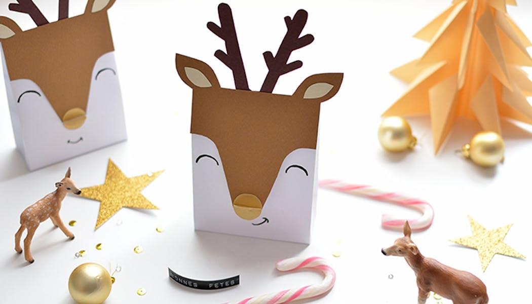 Pochettes rennes de Noël à faire soi-même