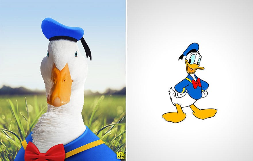 Les personnages de dessins animés dans la vie réelle par Dito Von Tease