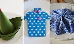 Top 25 des idées de pliages de serviettes pour Noël, le Nouvel An...