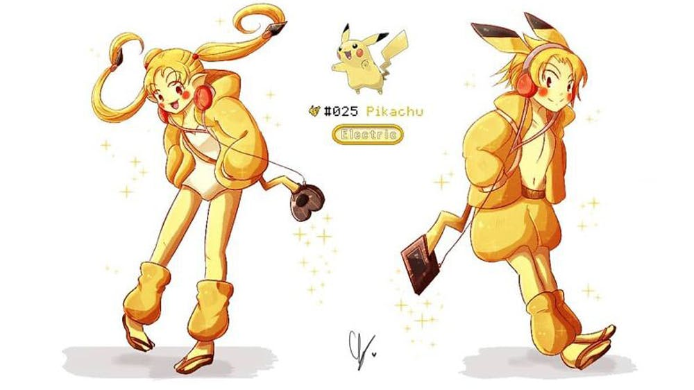 Pokémon Pikachu version humaine par endifi