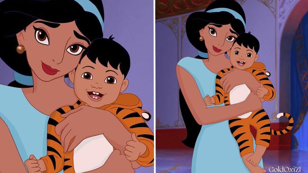 La princesse Disney Jasmine devenue maman par Oksana Pashchenko