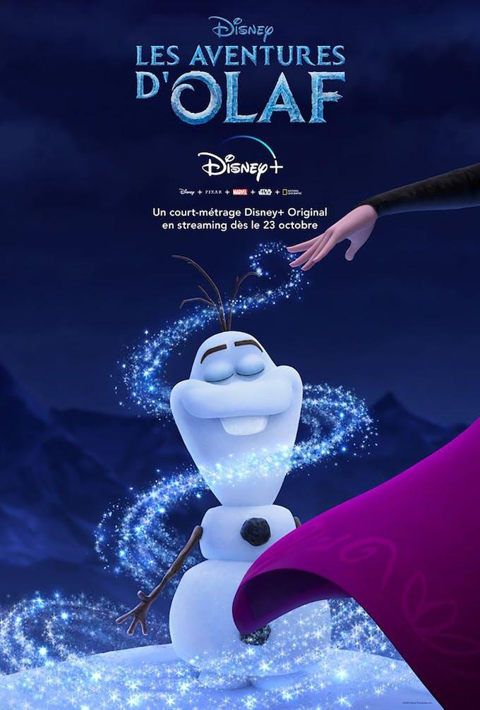 Olaf, le bonhomme de neige de la Reine des Neiges, affiche Les aventures d'Olaf sur Disney+