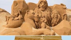 150 sculptures de sable Disney incroyables sur une plage de Belgique !