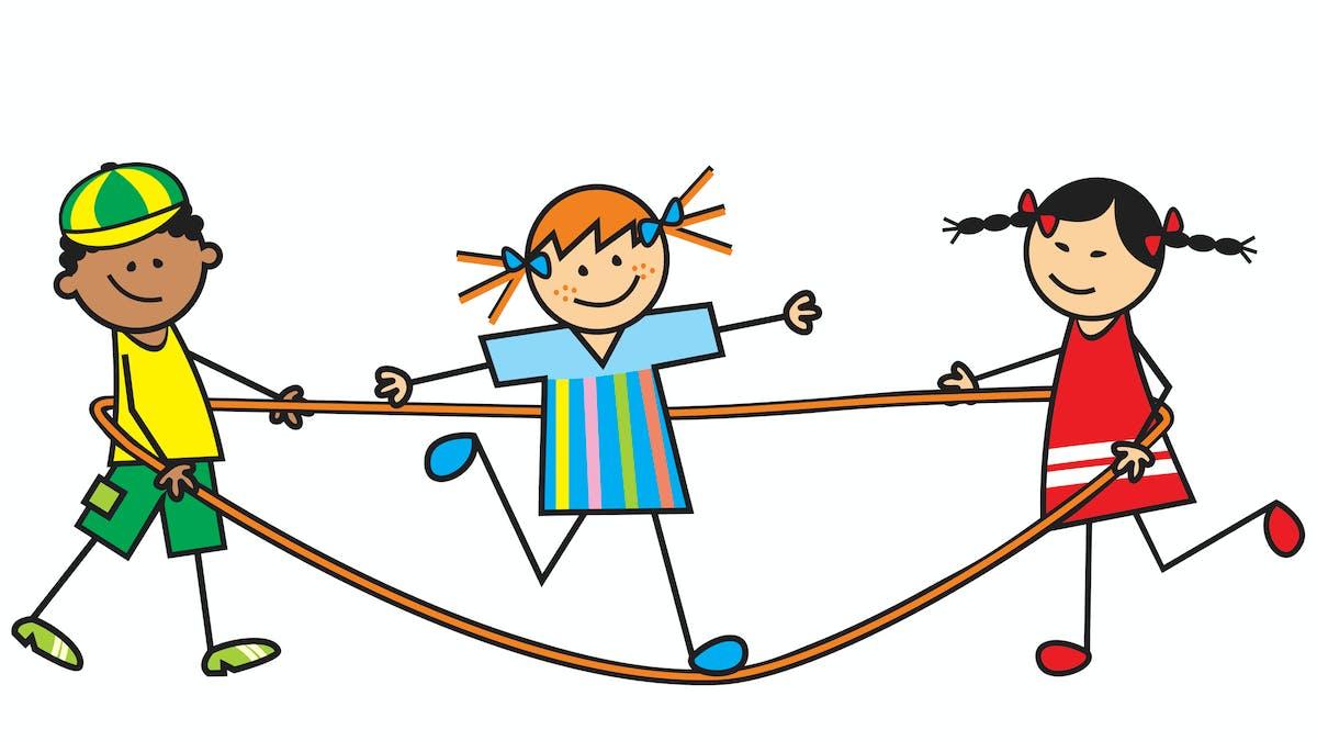 illustration enfant corde à sauter