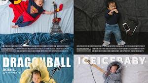 52 affiches pour les 52 semaines de son fils !