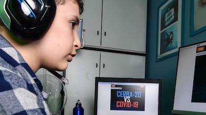 Lupo Daturi 9 ans crée jeu virtuel contre       coronavirus