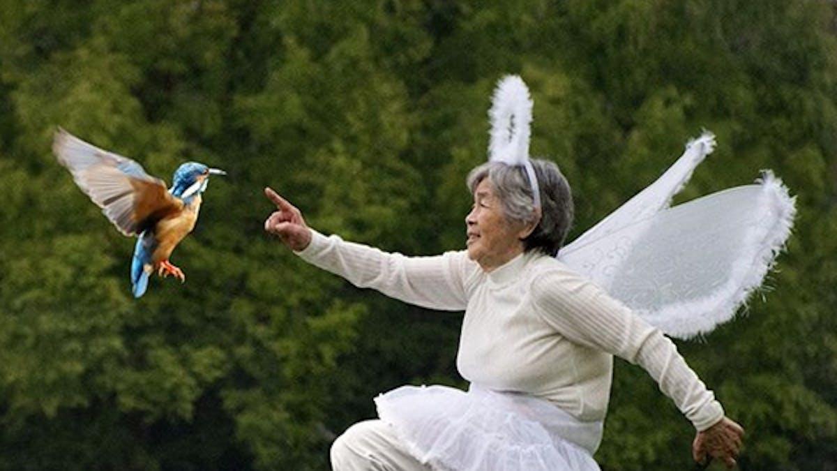 mamie 90 ans photos autoportraits drôles Kimiko       Nishimoto